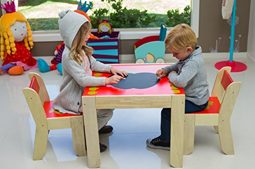 Labebe Children And Kids Wood Table And 2 Chairs Set Study