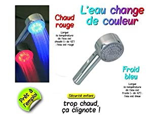 POMMEAU DE DOUCHE LED 3 COULEURS - CMP