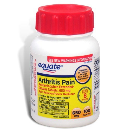 Equate - Arthritis Pain Reliever, Extended Release, Acetaminophen 650 Mg, 100-Count