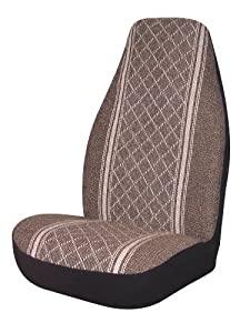 Allison 67-1916BRN Brown Diamond Back Universal Bucket Seat Cover - Pack of 2