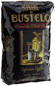 Supreme by Bustelo Whole Bean Espresso Coffee, 32-Ounce Bag