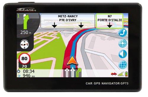 Takara-GP73-Navigationssystem-43-Zoll-Displaystarrer-Monitor-169Kontinent-Ausschnitt