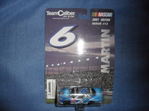 Mark Martin 2001 Team Caliber Pit Stop #6 Pfizer Ford Taurus NASCAR 1/64 Diecast . . . Issue #13