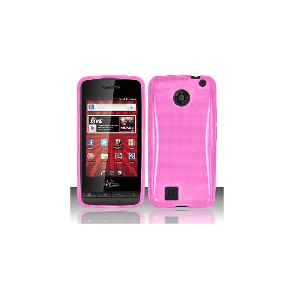 Pink Soft TPU Skin Gel Cover Case For PCD Chaser VM2090 (Virgin Mobile)