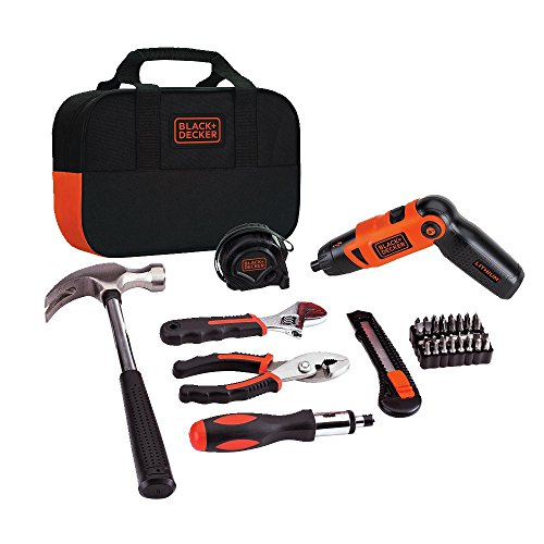 BLACK+DECKER LI2000PK Lithium-Ion Screwdriver and Project Kit (Black And Decker Tools Kit compare prices)
