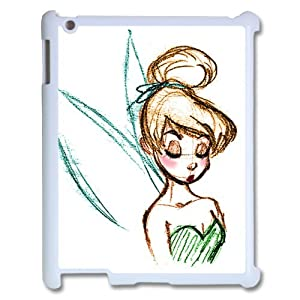 Cushioned Protective Peter Pan's Character Tinkerbell Waterproof Back Cases Covers For Apple iPad 2/3/4 (Plastic)