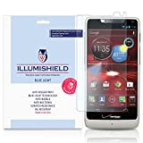 iLLumiShield - Motorola DROID RAZR M (XT907) (HD) Blue Light UV Filter Screen Protector Premium High Definition Clear Film / Reduces Eye Fatigue and Eye Strain - Anti- Fingerprint / Anti-Bubble / Anti-Bacterial Shield - Comes With Free LifeTime Replacement Warranty - [2-Pack] Retail Packaging