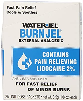 Water Jel, First Aid Burn Relief, Burn jel, 25 count by EVER READY FIRST AID