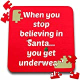 Jacoba holiday sayings - When you stop believing in Santa you get underwear red white - 10x10 Inch Puzzle (pzl_200801_2)