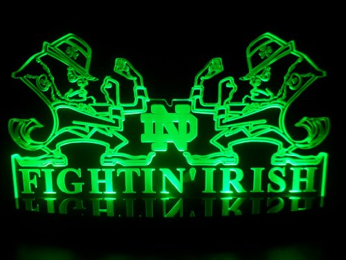 "Ncaa University Of Notre Dame Fighting Irish Desk Lamp Light Beer Bar Bedroom Gameroom Signs (Small 3""X12""X5.5 Inch) front-300685"