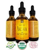 Premium ★ 100% Pure Organic Moroccan Argan Oil, Hair & Skin Treatment, (TRIPLE Extra Virgin Grade) FAST ABSORBING, Certified Organic - EcoCert and USDA Approved Oil. Cold Pressed Oil to Treat Dry Scalp, Nails, Cuticles. Excellent Daily Moisturizer. Guarantee Satisfaction. Results within Days.