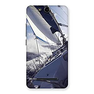 Impressive Floating Boat Back Case Cover for Micromax Canvas Juice 3 Q392
