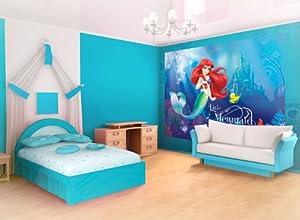 disney ariel the little mermaid wallpaper mural amazoncom