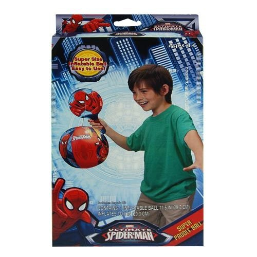 WeGlow International Marvel Ultimate Spiderman Super Paddle with Inflatable Ball
