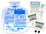Home Water Bathroom Toilet Saving Kit   Low Flush Displacement Bag Toilet Tummy & Leak Detecting Dye Tablets