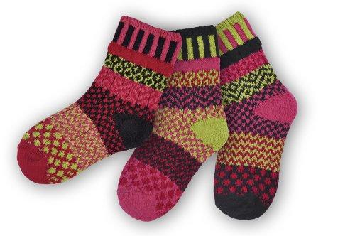 Solmate Socks, Mismatched Kids socks, Ladybug Small: Ages 2 - 5 (Fashion Bug Plus Size)