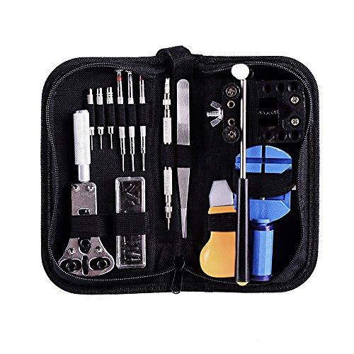 Ohuhu 13 Piece Watch Repair Tool Kit Case Opener Spring Bar Tool Set Bonus A Hammer (Repair Tool Kit compare prices)