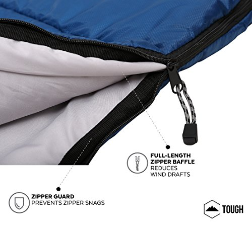 All-Season-Hooded-Sleeping-Bag-88x34in-Comfort-Temperature-Range-of-32-60F-Constructed-with-a-Ripstop-Waterproof-Shell-Woven-Polyester-Liner-High-Loft-Fill-Comfortably-Fits-Most-up-to-66