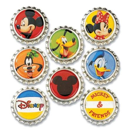 Disney Bottle Caps 8/Pkg - Mickey