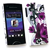 SONY ERICSSON XPERIA RAY (ST-18I) CLIP ON PROTECTION CASE/COVER/SKIN/SKIN PURPLE BLOOM BY KIT ME OUT UK
