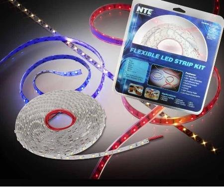 16' Red Led Strip Kit With Power Supply