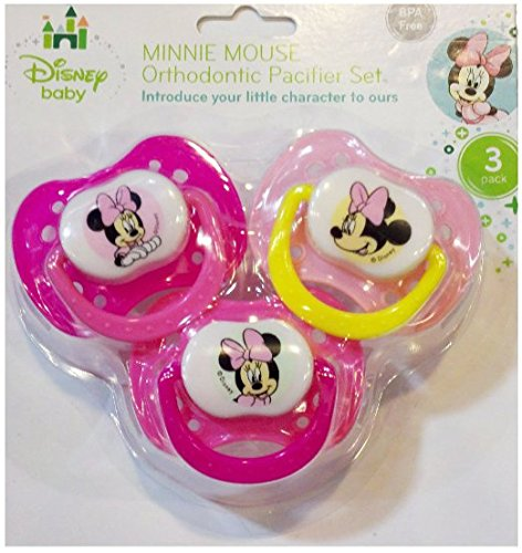 Disney Baby Minnie Mouse Orthodontic Pacifier Set