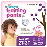 Rite Aid Tugaboos Training Pants for Girls, Jumbo Pack, M/2T-3T, up to 24 lbs+, 26 ea