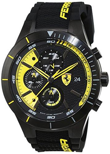 Scuderia Ferrari OROLOGI Hombre Reloj de pulsera Red Rev Evo analógico de cuarzo silicona 0830261
