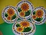 SUNFLOWER 3-D Big Ceramic Stove Burner Covers Sunflowers NEW