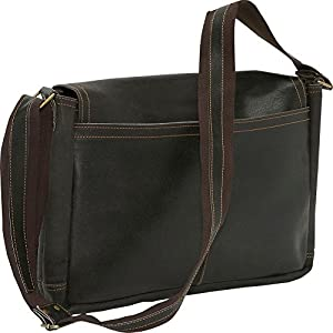 David King & Co. Leather Full Flap Laptop Messenger L Distressed by David King & Co.