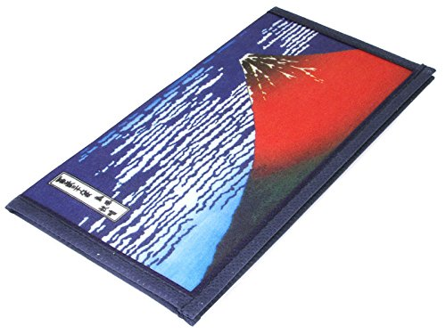 Japanese Hokusai Red Fuji Woodblock Print Washi Rice Paper Wallet, Made in Japan (Japanese Rice Paper Wallet compare prices)