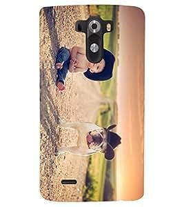 PRINTSHOPPII CUTE DOG BABY Back Case Cover for LG G3::LG G3 D855