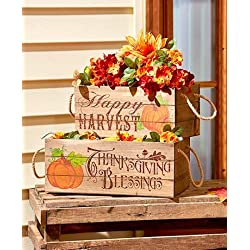 Happy Harvest Porch Decor (Set of 2 Crates)