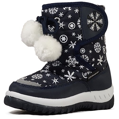 Lj-Adorababy Girl'S Winter Snow Boots,Lj Girl Kb506 Navy 9