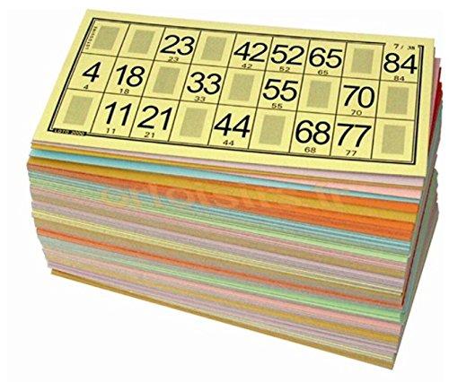 Lot de 96 cartons de LOTO QUINE Pro - grand taille - 96 différents