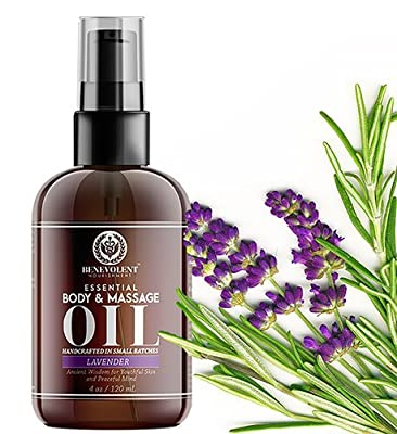 Benevolent Nourishment Lavender Body and Massage Oil Aromatherapy with Daily Moisturizer