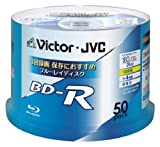 ビクター 映像用ブルーレイディスク 1回録画用 25GB 4倍速 保護コート(ハードコート) ワイドホワイトプリンタブル スピンドル 50枚 台湾製 BV-R130U50W