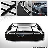 R&L Racing Black Roof Rack Basket Car Top Cargo Baggage Carrier Storage W/Wind Fairing C01