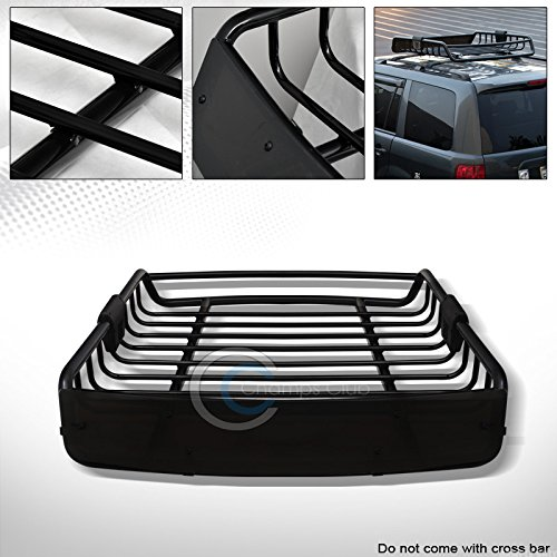 R&L Racing Black Roof Rack Basket Car Top Cargo Baggage Carrier Storage W/Wind Fairing C01 (2014 Corolla Roof Rack compare prices)