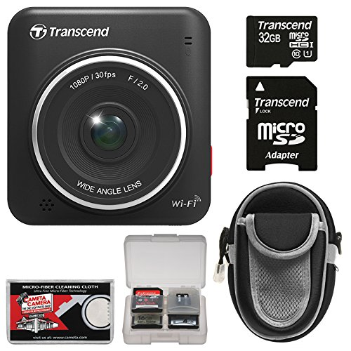 Transcend Drivepro 200 1080P Full Hd Car Dashboard Video Recorder With 32Gb Card + Case + Accessory Kit