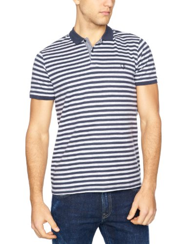 Ben Sherman Short Sleeve Polo MB2406M Men's T-Shirt Blue Shadow X-Small