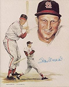 Autographed Hand Signed Stan Musial 8x10 St.louis Cardinals 8x10 Photo by Hall of Fame Memorabilia