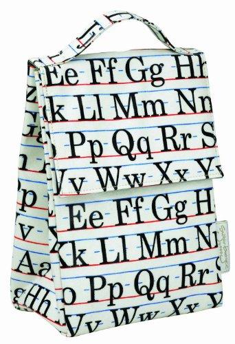 Sugarbooger Classic Lunch Sack, Vintage Alphabet front-101300