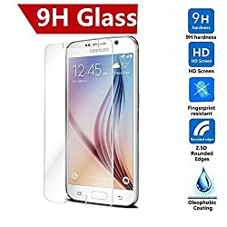 MobilX Tempered Glass Screen Protector for Samsung Galaxy S6 - Anti-scratch Oleophobic - Anti Shatter Ultra Slim