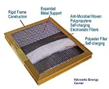 23-1/8 X 19-3/8 X 1 Electrostatic Washable Permanent A/c Furnace Air Filter Gold 94% Arrestance + 3 Filter Fresh Air Filter Pads Scented Free