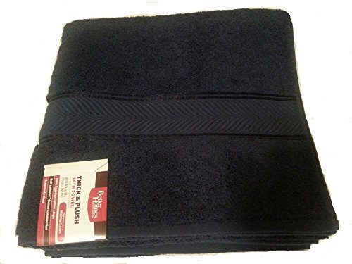 Better Homes And Gardens Thick And Plush Bath Towel Collection Blue Admiral Linens Bedding