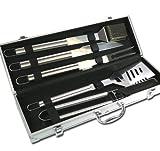 BBQ Grillbesteck Besteck im Aluminium Koffer Grill Modell ELECSA 1510