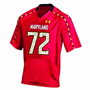 NCAA Mens Maryland Terrapins #72 College Football Replica Jerseys by Under Armour