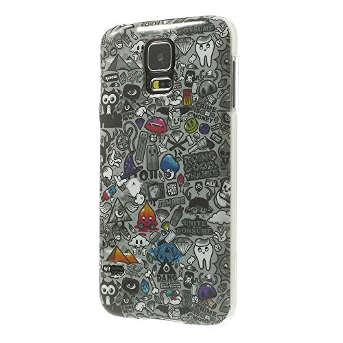 JUJEO Rich and Colorful Patterns Glossy Soft TPU Shell for Samsung Galaxy S5 G900 G900P - Non-Retail Packaging - Multi Color
