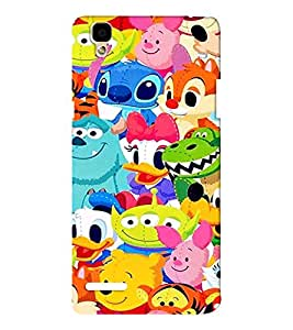 EPICCASE Cartoons Mobile Back Case Cover For Oppo F1 (Designer Case)